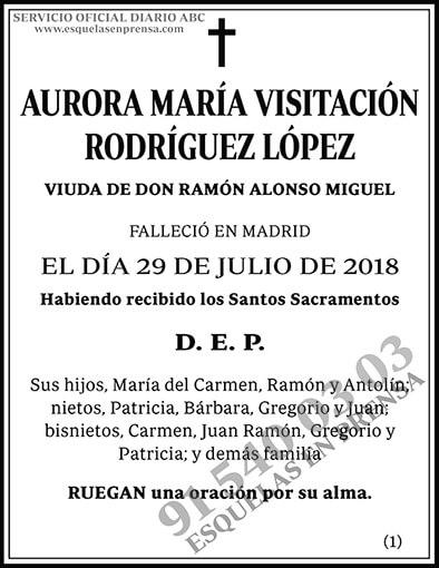 Aurora María Visitación Rodríguez López